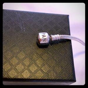 PANDORA Sterling Silver Bracelet w/ Barrel Clasp